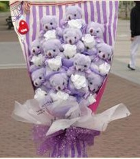 11 adet pelus ayicik buketi  Bingöl Gölüm Çiçek çiçek gönderme sitemiz güvenlidir