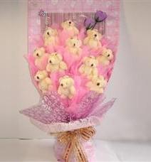 11 adet pelus ayicik buketi  Bingöl Gölüm Çiçek çiçek yolla