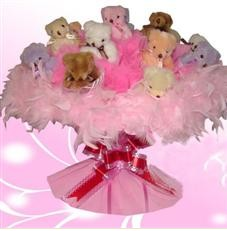 11 adet pelus ayicik buketi  Bingöl Gölüm Çiçek çiçek satışı
