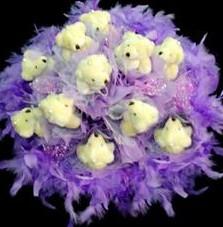 11 adet pelus ayicik buketi  Bingöl Gölüm Çiçek çiçek , çiçekçi , çiçekçilik