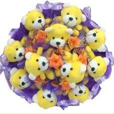 11 adet pelus ayicik buketi  Bingöl Gölüm Çiçek çiçek mağazası , çiçekçi adresleri