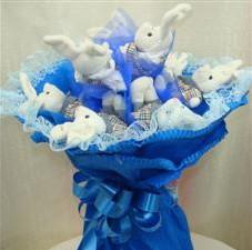 7 adet pelus ayicik buketi  Bingöl Gölüm Çiçek çiçek , çiçekçi , çiçekçilik