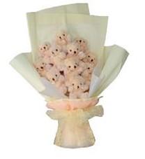 11 adet pelus ayicik buketi  Bingöl Gölüm Çiçek ucuz çiçek gönder