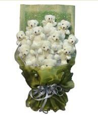 11 adet pelus ayicik buketi  Bingöl Gölüm Çiçek online çiçek gönderme sipariş