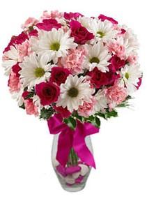 Bingöl Gölüm Çiçek çiçek siparişi sitesi  Karisik mevsim kir çiçegi vazosu