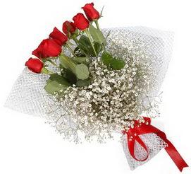 7 adet essiz kalitede kirmizi gül buketi  Bingöl Gölüm Çiçek hediye sevgilime hediye çiçek