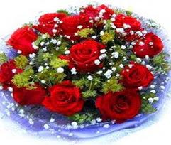 9 adet kirmizi güllerden buket  Bingöl Gölüm Çiçek çiçekçi telefonları