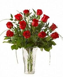 cam yada mika vazo içerisinde 9 kirmizi gül  Bingöl Gölüm Çiçek çiçek siparişi sitesi