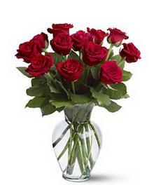 Bingöl Gölüm Çiçek çiçek gönderme sitemiz güvenlidir  cam yada mika vazoda 10 kirmizi gül