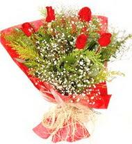 Bingöl Gölüm Çiçek anneler günü çiçek yolla  5 adet kirmizi gül buketi demeti