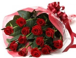 Bingöl Gölüm Çiçek anneler günü çiçek yolla  10 adet kipkirmizi güllerden buket tanzimi