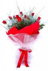 Bingöl Gölüm Çiçek İnternetten çiçek siparişi  9 adet kirmizi gül buketi demeti