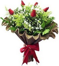 Bingöl Gölüm Çiçek online çiçek gönderme sipariş  5 adet kirmizi gül buketi demeti