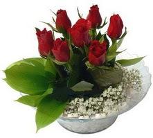 Bingöl Gölüm Çiçek internetten çiçek satışı  cam yada mika içerisinde 5 adet kirmizi gül