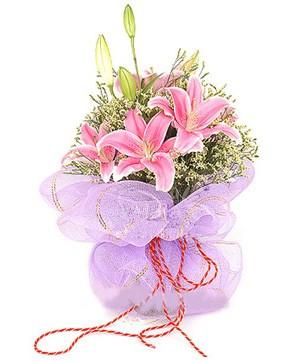 3 dal kazablanka görsel buketi  Bingöl Gölüm Çiçek internetten çiçek satışı