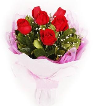 Bingöl Gölüm Çiçek hediye sevgilime hediye çiçek  kırmızı 6 adet gülden buket