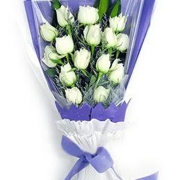 Bingöl Gölüm Çiçek çiçekçi mağazası  11 adet beyaz gül buket modeli