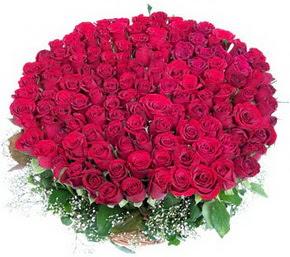 Bingöl Gölüm Çiçek online çiçekçi , çiçek siparişi  100 adet kırmızı gülden görsel buket