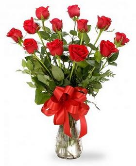 Bingöl Gölüm Çiçek çiçek , çiçekçi , çiçekçilik  12 adet kırmızı güllerden vazo tanzimi