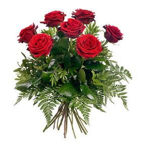 Bingöl Gölüm Çiçek online çiçek gönderme sipariş  7 adet kırmızı gülden buket
