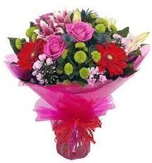 Karışık mevsim çiçekleri demeti  Bingöl Gölüm Çiçek online çiçek gönderme sipariş