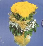 Bingöl Gölüm Çiçek anneler günü çiçek yolla  Cam vazoda 9 Sari gül