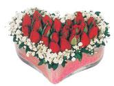 Bingöl Gölüm Çiçek çiçekçi telefonları  mika kalpte kirmizi güller 9