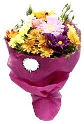 1 demet karışık görsel buket  Bingöl Gölüm Çiçek anneler günü çiçek yolla