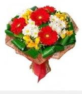 1 demet karışık buket  Bingöl Gölüm Çiçek hediye sevgilime hediye çiçek