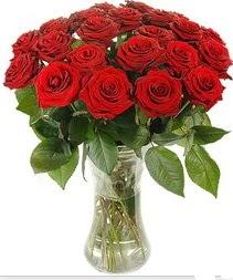 Bingöl Gölüm Çiçek çiçek mağazası , çiçekçi adresleri  Vazoda 15 adet kırmızı gül tanzimi