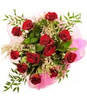 12 adet kırmızı gül buketi  Bingöl Gölüm Çiçek 14 şubat sevgililer günü çiçek