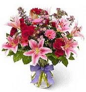 Vazo içerisinde karışık mevsim çiçeği  Bingöl Gölüm Çiçek çiçek siparişi sitesi