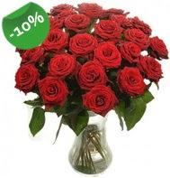 Vazo içerisinde 25 adet kırmızı gül  Bingöl Gölüm Çiçek cicek , cicekci