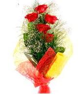 5 li kırmızı gül buketi  Bingöl Gölüm Çiçek internetten çiçek satışı