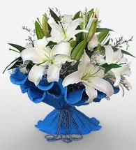 4 dal kazablanka çiçeğinden buket  Bingöl Gölüm Çiçek cicek , cicekci