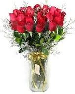 27 adet vazo içerisinde kırmızı gül  Bingöl Gölüm Çiçek İnternetten çiçek siparişi