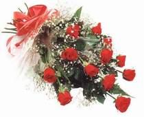 Bingöl Gölüm Çiçek çiçek , çiçekçi , çiçekçilik  12 adet kirmizi gül seffaf