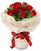 12 adet kırmızı gül buketi  Bingöl Gölüm Çiçek anneler günü çiçek yolla