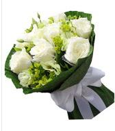 9 adet beyaz gül buketi  Bingöl Gölüm Çiçek çiçek siparişi sitesi