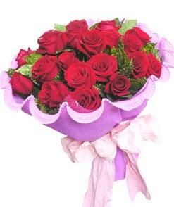 12 adet kırmızı gülden görsel buket  Bingöl Gölüm Çiçek çiçekçi mağazası