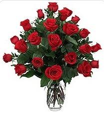 Bingöl Gölüm Çiçek çiçek siparişi sitesi  24 adet kırmızı gülden vazo tanzimi