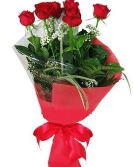 5 adet kırmızı gülden buket  Bingöl Gölüm Çiçek kaliteli taze ve ucuz çiçekler