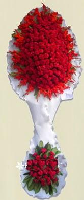 Çift katlı kıpkırmızı düğün açılış çiçeği  Bingöl Gölüm Çiçek anneler günü çiçek yolla