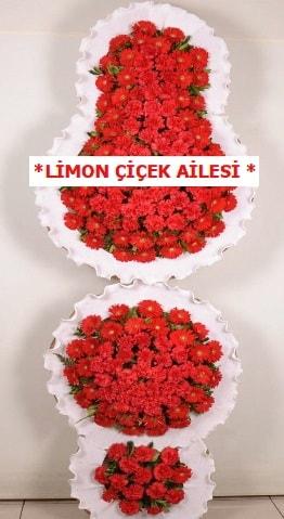 3 katlı kırmızı düğün açılış çiçeği  Bingöl Gölüm Çiçek çiçek gönderme