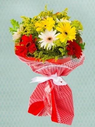 Karışık Gelbera Buketi  Bingöl Gölüm Çiçek çiçek siparişi sitesi