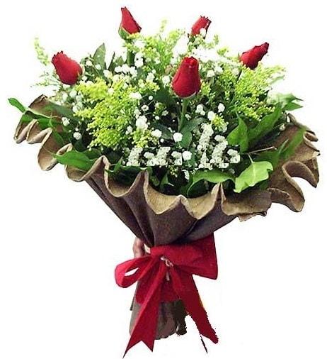 5 adet gülden buket  Bingöl Gölüm Çiçek çiçek gönderme sitemiz güvenlidir
