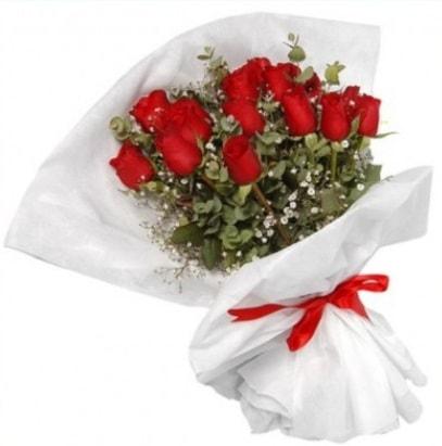 9 adet kırmızı gül buketi  Bingöl Gölüm Çiçek çiçekçi mağazası