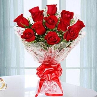 11 adet kırmızı gülden görsel şık buket  Bingöl Gölüm Çiçek ucuz çiçek gönder