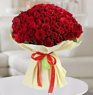 101 adet kırmızı gül buketi koca demet  Bingöl Gölüm Çiçek internetten çiçek siparişi