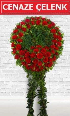 Kırmızı Çelenk Cenaze çiçeği  Bingöl Gölüm Çiçek İnternetten çiçek siparişi